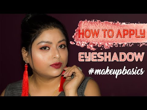 How To Apply EYESHADOW Step By Step Tutorial For Beginners | Makeup Basics Series | Indian Makeup
