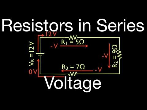 Resistors (8 of 11) in Series, Calculating Voltage