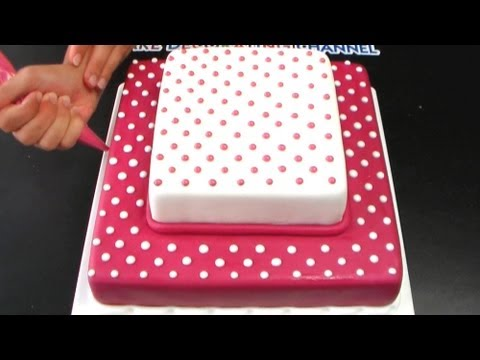 Polka Dot Cake Tutorial / Jednoduchý dort s puntíky