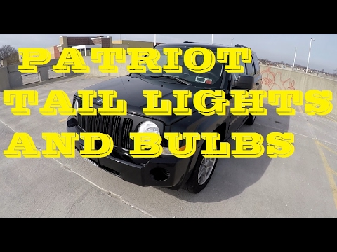 How to remove Tail light and bulbs Jeep Patriot