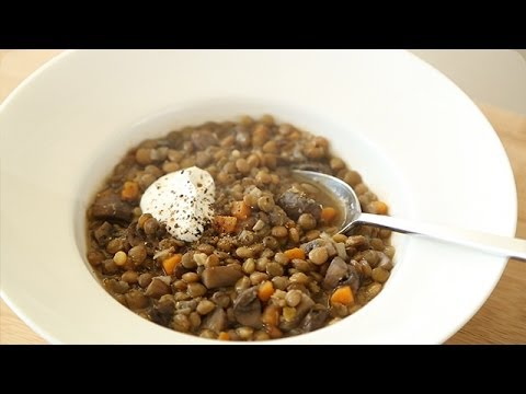 Mushroom and Lentil Soup - Everyday Food with Sarah Carey