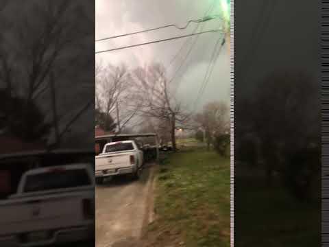 Tornado footage from Falkville, Alabama