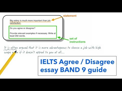 IELTS Writing task 2: agree or disagree essay