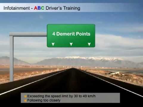 ABC Driver's Training Infotainment  - Demerit Points