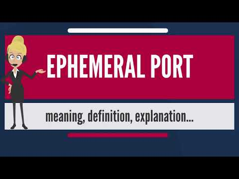 What is EPHEMERAL PORT? What does EPHEMERAL PORT mean? EPHEMERAL PORT meaning & explanation