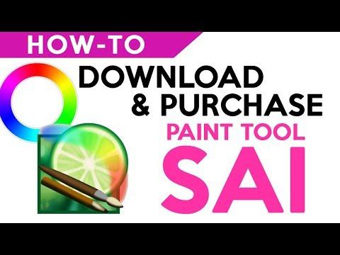 【How -to】Download & Purchase PaintTool Sai | كيفية تنزيل وشراء برنامج الرسم ساي