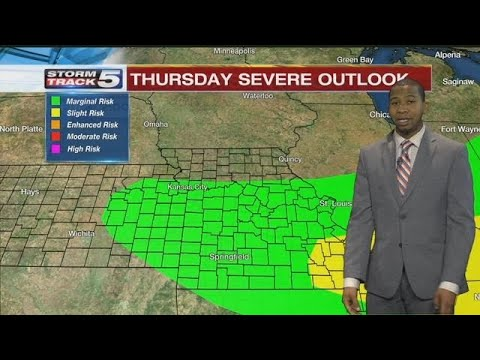 FORECAST: Isolated thunderstorms possible early Wednesday evening