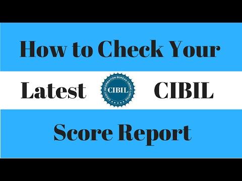 How to check CIBIL score