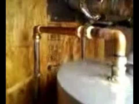 Big John's Service Co, Repairing a water leak on the hot side of a 75gal gas water heater