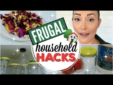 FRUGAL LIVING HOUSEHOLD HACKS & TIPS ● HOW TO SAVE MONEY WITH CLEANING, COOKING, AND MORE