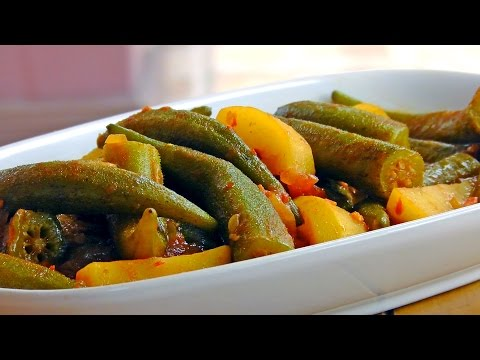 Persian Okra Stew with Potatoes - Vegan Vegetarian Recipe