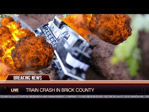 Lego Brick Railway Explosive Train Crash!!!