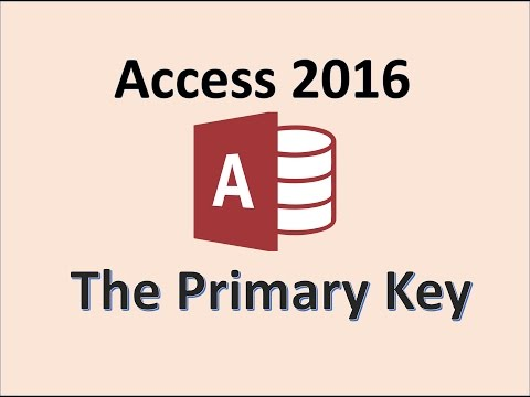 Access 2016 - Primary Key - What is it? How To Use the Default ID Field in a MS Office 365 Database