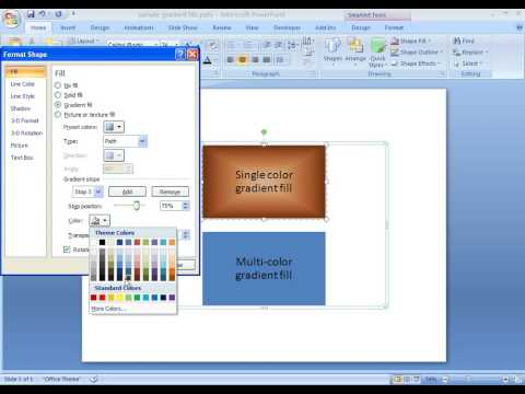 Office 2007 Demo: Add a gradient fill to your SmartArt graphic