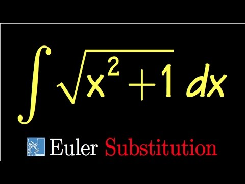 integral of sqrt(x^2+1), with Euler Substitution, math for fun