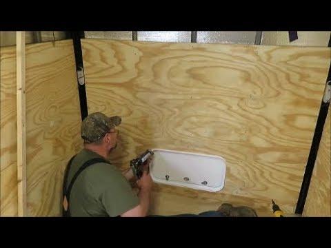 box trailer camper build part 6