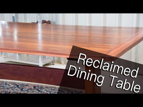 Building a Jarrah Dining Table From Reclaimed Floor Boards