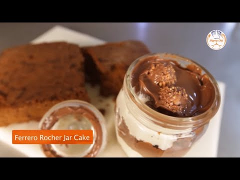 No Bake Ferrero Rocher Cake - Egg Less Cake Recipe - Homemade Jar Cake - Christmas Dessert Recipe
