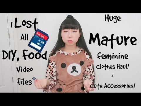 I Lost All Video Files! + Huge MATURE Clothes Haul + CUTE Accessories!