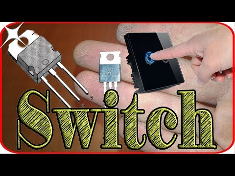 How to make a touch switch circuit using one mosfet transistor. Mosfet transistor projects