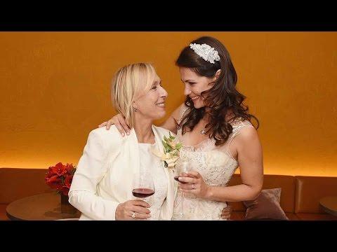 Martina Navratilova , Julia Lemigova marriage moments
