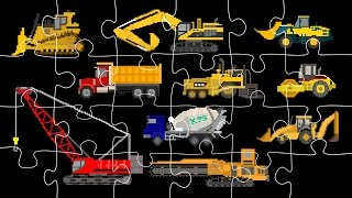 Construction Vehicles Jigsaw Puzzle - Trucks & Heavy Equipment - The Kids