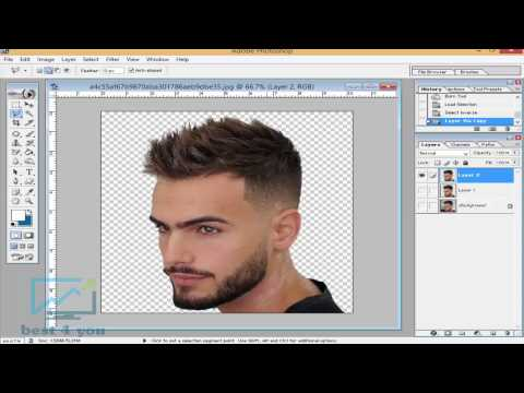 How to CutYour own hair in Photoshop 7.0 - In Hindi / Urdu