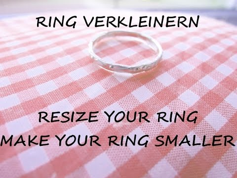 Tutorial: Make a ring smaller - Resize your fingerring - Ring too big