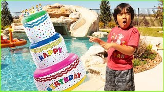 Download Giant Birthday Cakes Toys with Ryan Pretend Play Surprise Party!!! Video