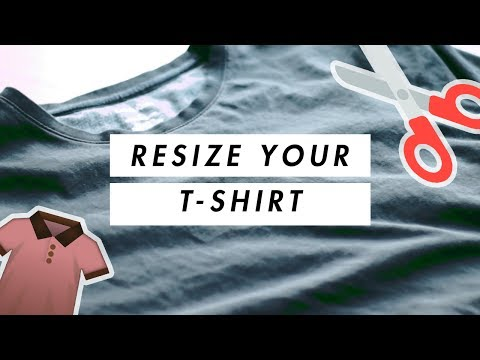 DIY RESIZE A T-SHIRT 👕 // FOR BEGINNERS //