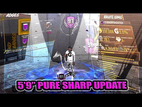 5'9' PURE SHARPSHOOTER  91 OVERALL ATTRIBUTE BADGE & SIGNATURE STYLE UPDATE - NBA 2K18
