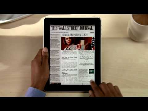 The Wall Street Journal Application for the Apple iPad
