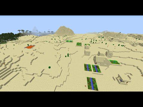 Minecraft village seed 1.8.2 desert temple at spawn