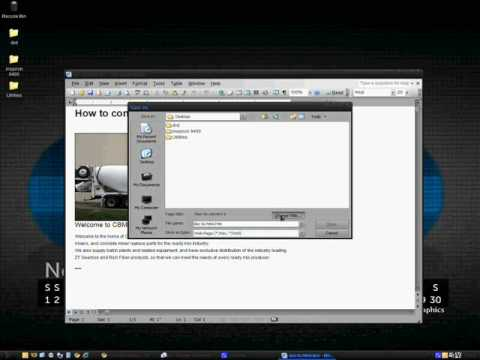 How-to: Convert a .doc to .html with Microsoft Word 2003