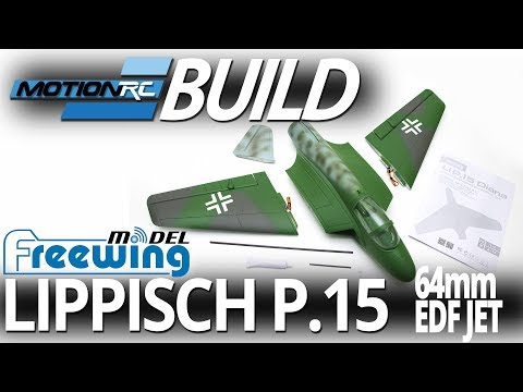 Freewing Lippisch P.15 64mm EDf Jet - Build Video - Motion RC