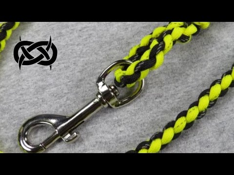 How to make a Reflective Paracord Dog Leash Tutorial (Paracord 101)