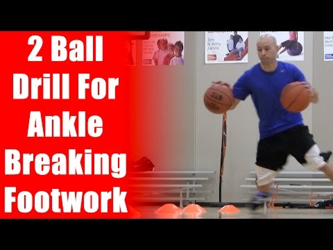 Get Sick Handles And Footwork - 2 Ball Baskeball Drills - NBA Ankle Breakers