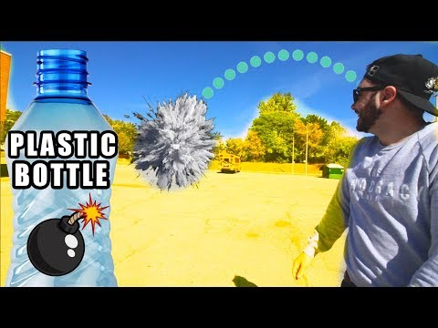 How To Make A Plastic Bottle Rocket with household objects!
