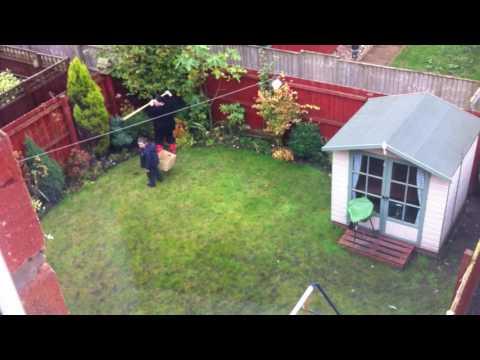 Nextdoor neighbour trying to catch a rabbit