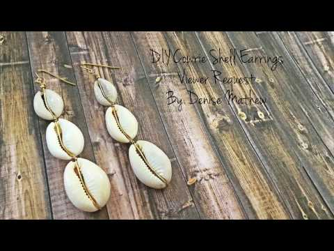 DIY Cowrie Shell Earrings by Denise Mathew ( Viewers Request)