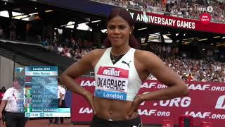 Women's 100m | Diamond League London 2019!