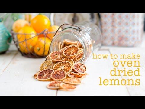 Oven Dried Lemon Slices