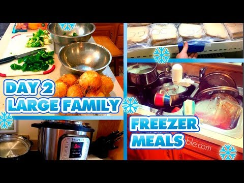 🍅LARGE FAMILY FREEZER MEALS | DAY ONE | 🍞Massive Freezer Cooking Meal Prep 🔪