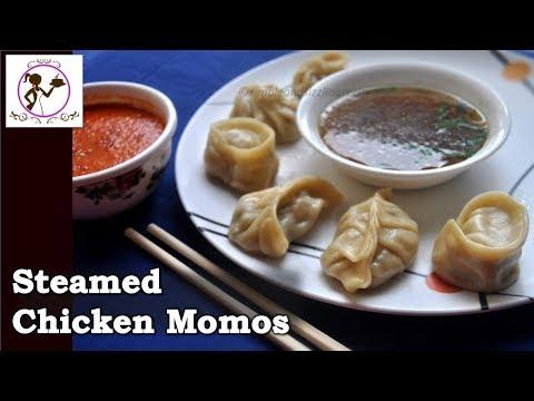 ৬ ধরণের ভাজ সহ স্টীমার ছাড়া মোমো বানানোর পদ্ধতি - Chicken Momo Recipe with Momo Soup