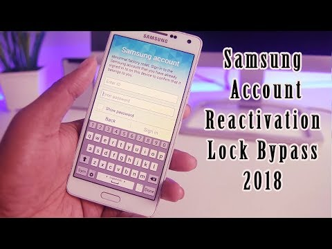 2018 Samsung Account Reactivation Lock Bypass/Remove/Delete Solution