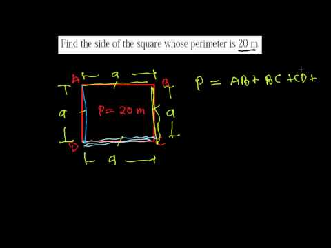 Find Side of Square -Perimeter Word Problem - Area & Perimeter 6