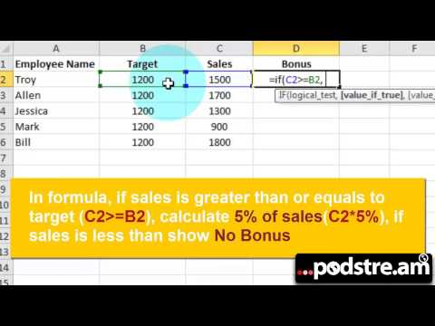 How to Calculate Bonus in Excel 2010 or Later