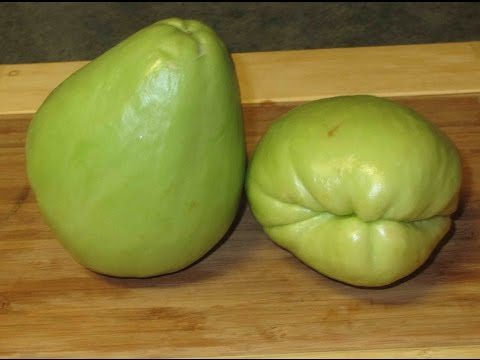 Preparing Chayote Squash