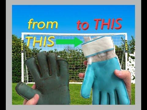 How to Clean MUDDY Goalkeeper Gloves | Make Kids Goalie Gloves look like NEW again!