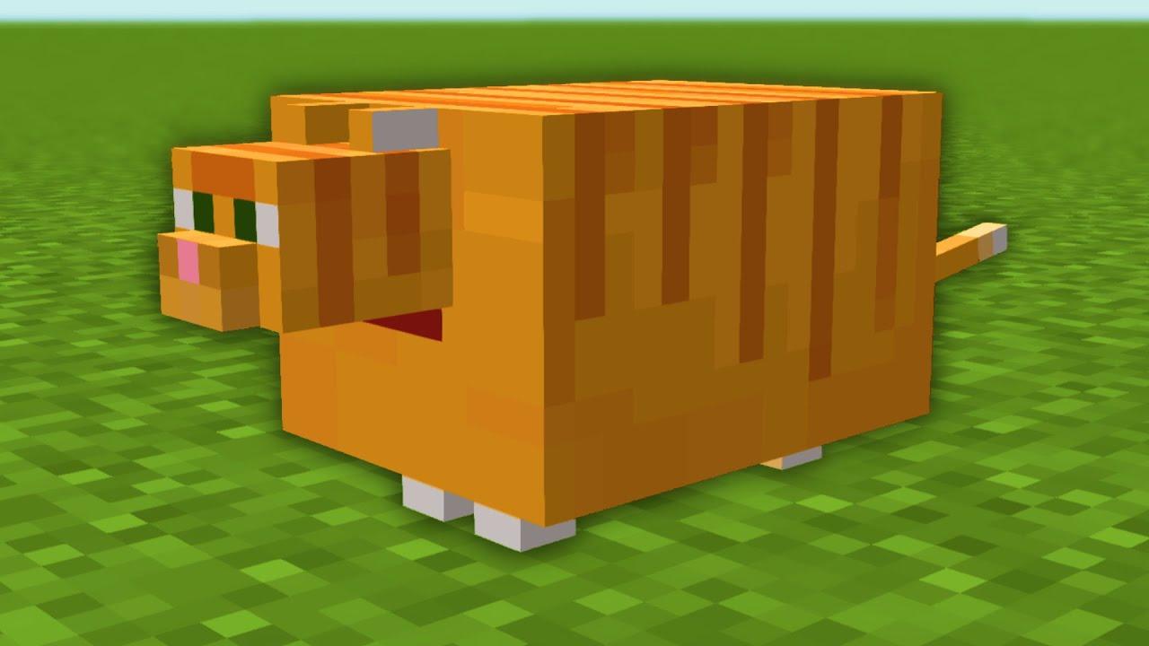 So I made Garfield in Minecraft...